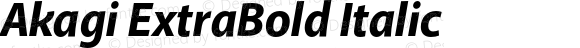 Akagi ExtraBold Italic