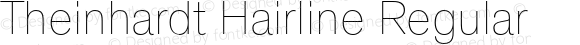 Theinhardt Hairline Regular Version 1.000