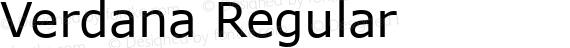 Verdana Regular preview image