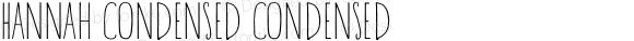 Hannah Condensed Condensed