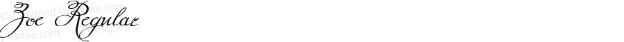 Zoe Regular Version 1.000