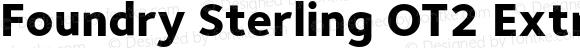 Foundry Sterling OT2 ExtraBold ExtraBold