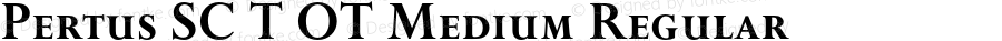 Pertus SC T OT Medium Regular OTF 1.001;PS 1.05;Core 1.0.27;makeotf.lib(1.11)