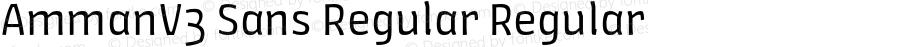 AmmanV3 Sans Regular Regular Version 1.001