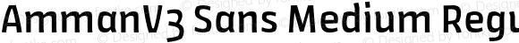 AmmanV3 Sans Medium Regular Version 1.001