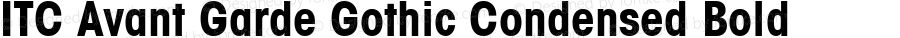 ITC Avant Garde Gothic Condensed Bold