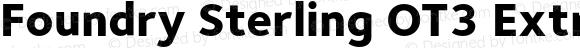 Foundry Sterling OT3 ExtraBold ExtraBold