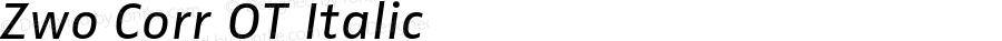 Zwo Corr OT Italic Version 7.502; 2007