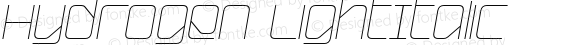 Hydrogen LightItalic