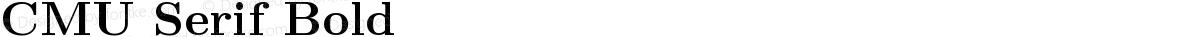 CMU Serif Bold