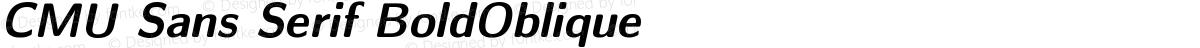 CMU Sans Serif BoldOblique