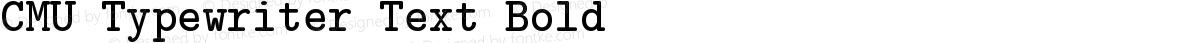 CMU Typewriter Text Bold
