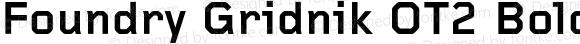 Foundry Gridnik OT2 Bold Bold Version 001.000