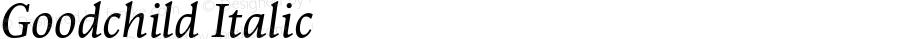 Goodchild Italic Version 001.001; t1 to otf conv
