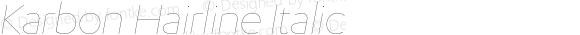 Karbon Hairline Italic