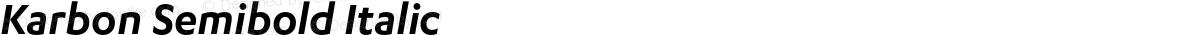 Karbon Semibold Italic