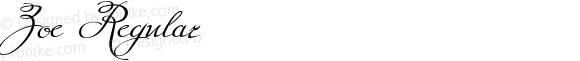 Zoe Regular Version 001.001