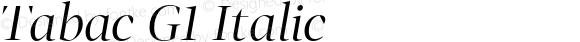 Tabac G1 Italic