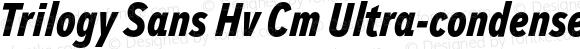 Trilogy Sans Hv Cm Ultra-condensed Italic