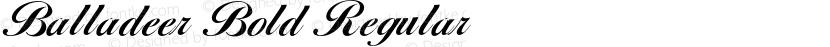 Balladeer Bold Regular Preview Image