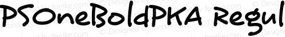 PSOneBoldPKA Regular Version 1.0 Extracted by ASV http://www.buraks.com/asv