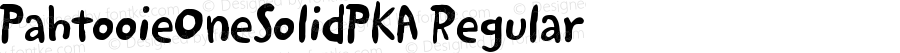 PahtooieOneSolidPKA Regular Version 1.0 Extracted by ASV http://www.buraks.com/asv