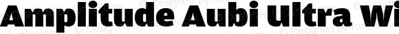 Amplitude Aubi Ultra Wide Regular Version 001.001; t1 to otf conv