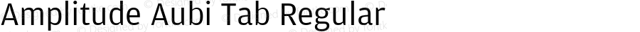 Amplitude Aubi Tab Regular Version 001.001; t1 to otf conv