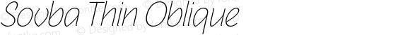 Sovba Thin Oblique