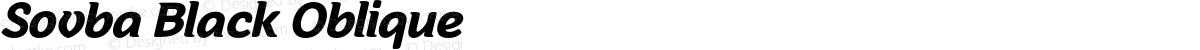 Sovba Black Oblique