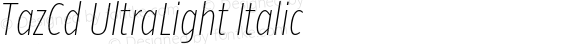 TazCd UltraLight Italic