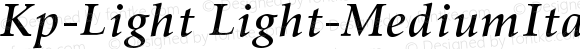 Kp-Light Light-MediumItalic