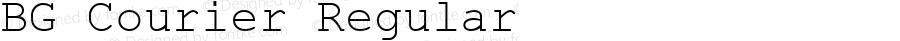 BG Courier Regular Macromedia Fontographer 4.1 15/12/2000