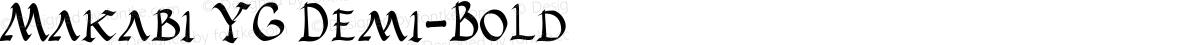 Makabi YG Demi-Bold