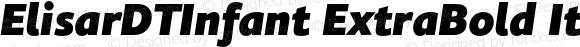 ElisarDTInfant ExtraBold Italic