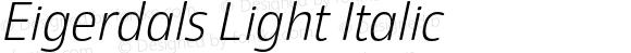 Eigerdals Light Italic Version 3.000