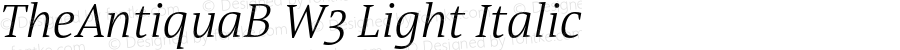 TheAntiquaB W3 Light Italic Version 1.005