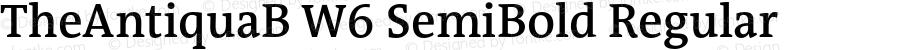 TheAntiquaB W6 SemiBold Regular Version 1.005