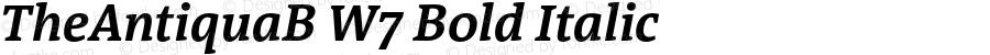 TheAntiquaB W7 Bold Italic Version 1.005