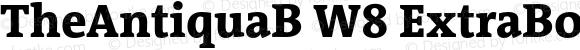 TheAntiquaB W8 ExtraBold Regular Version 1.005