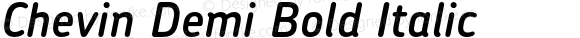 Chevin Demi Bold Italic 001.000