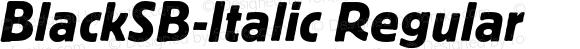 BlackSB-Italic Regular 001