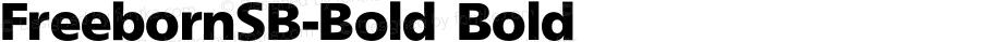 FreebornSB-Bold Bold 001