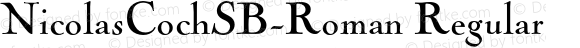 NicolasCochSB-Roman Regular 001
