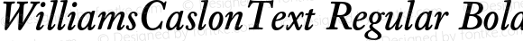 WilliamsCaslonText Regular Bold Italic