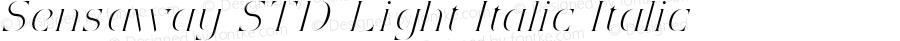 Sensaway STD Light Italic Italic Version 1.000