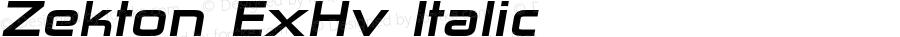 Zekton ExHv Italic Version 4.001