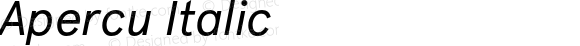 Apercu Italic Version 001.001; wf-rip
