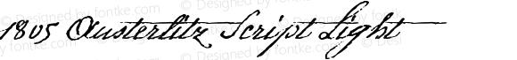 1805 Austerlitz Script Light