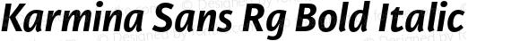 Karmina Sans Rg Bold Italic